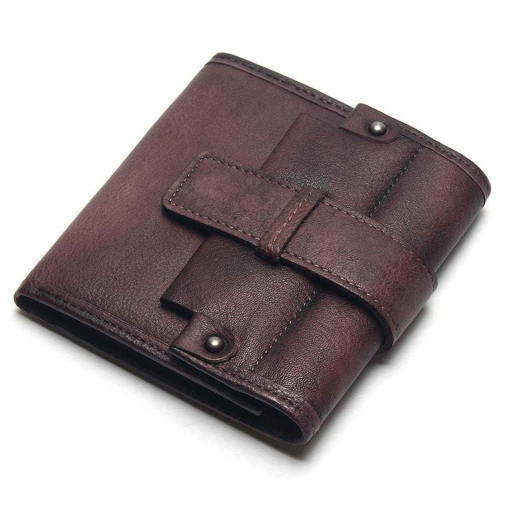 Men's Retro Genuine Leather Short Business Wallet