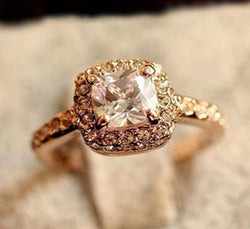 Wedding engagement  Gold Princess ring
