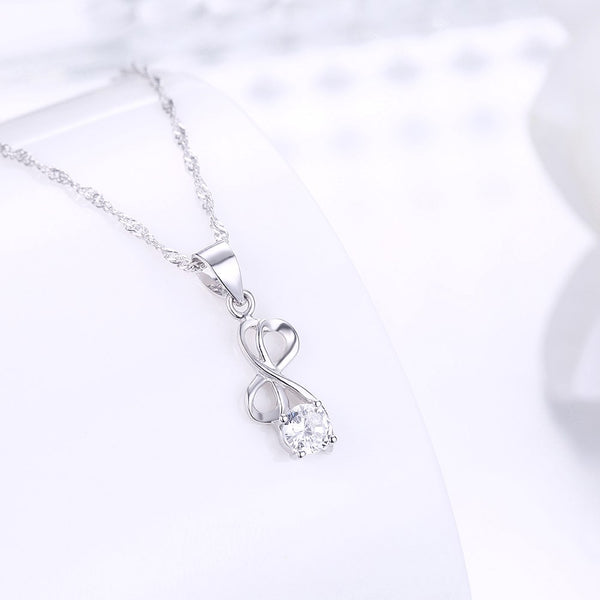 925 Sterling Silver Necklace Fashion Zircon Necklace