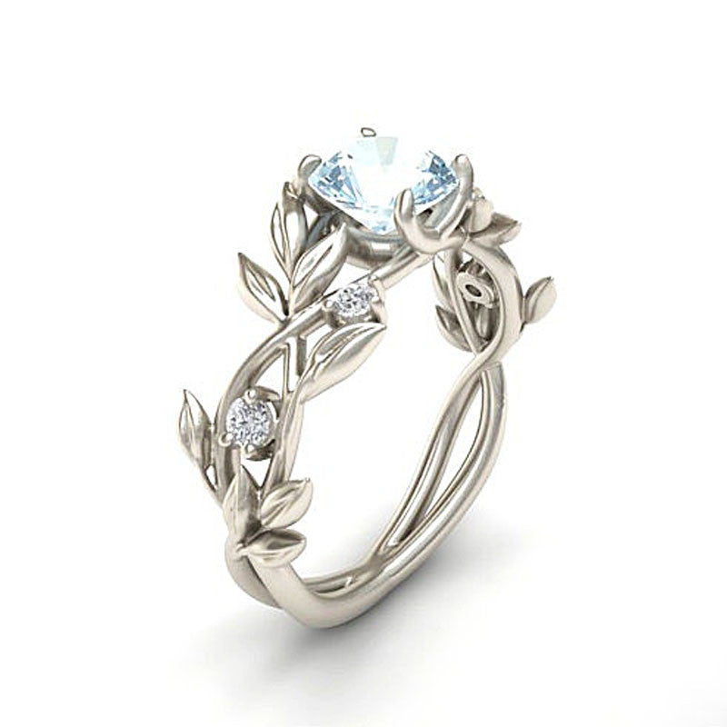 Flowers Finger Alloy Crystal Middle Ring