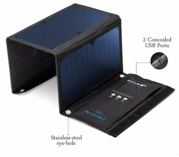 28W Solar Power Bank Solar Panel Portable Charger