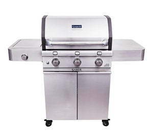 Saber 500 Stainless & Cast 3-Burner Gas Grill