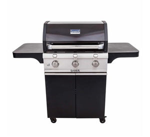 Saber 500 Black Cast 3-Burner Gas Grill