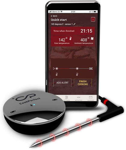 CookPerfect Comfort Wireless Bluetooth Meat Thermometer