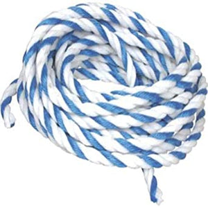 "3/4"" Blue and White Rope (per ft)"