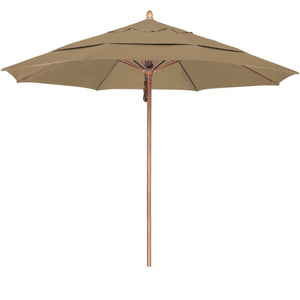 11′ Fiberglass Double Wind Vent Market Umbrella with Pulley