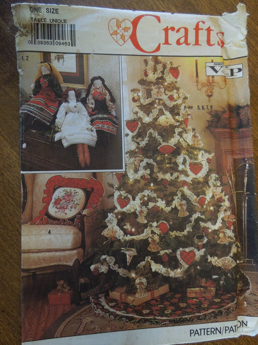 Uncut Sewing Pattern Christmas Decorations Simplicity 0606 Crafts