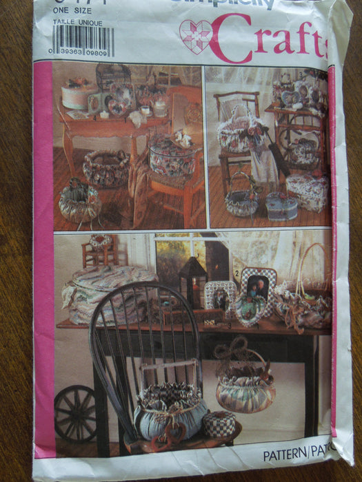 Simplicity Crafts 9471 Crafts Uncut Sewing Pattern Sale Home Decor Accessories