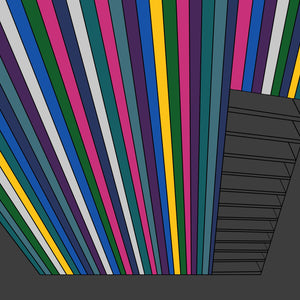 Custom graphic art print titled Boards, created by Mid-Century Mod-ify