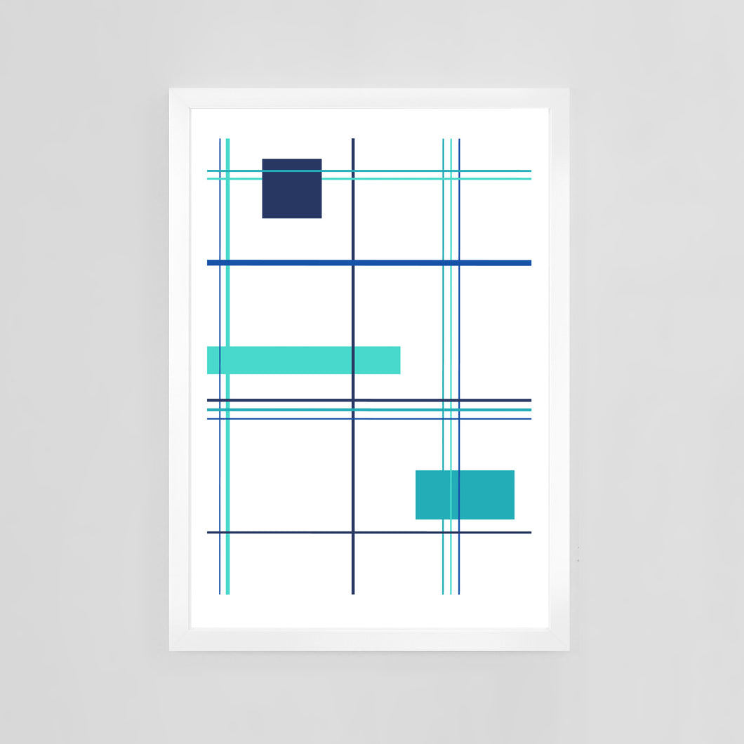 Plaid by Mid-Century Mod-ify, custom contemporary art print