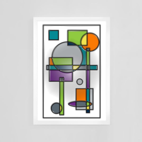 Stained Glass by Mid-Century Mod-ify, custom contemporary art print
