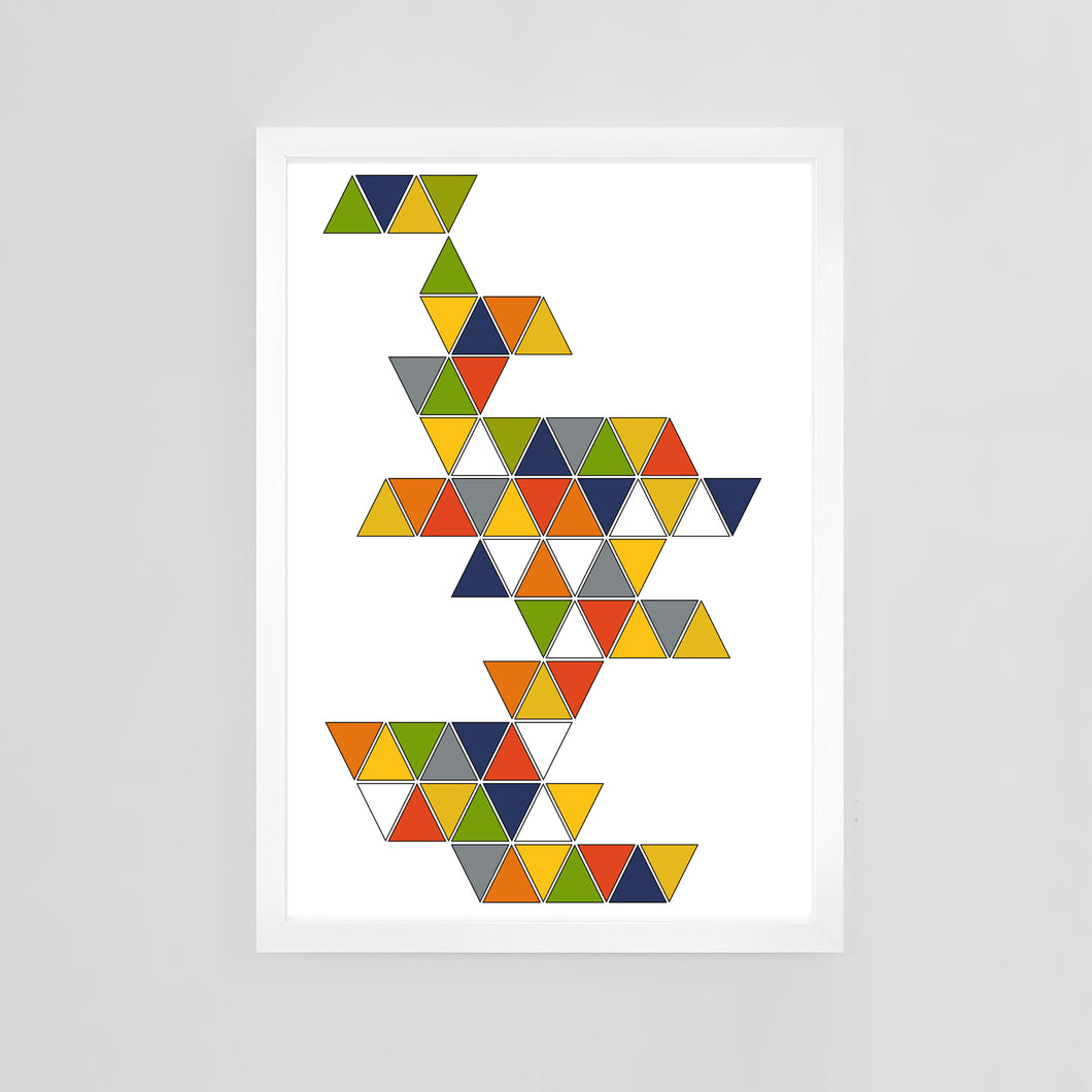 Triangles by Mid-Century Mod-ify, custom contemporary art print