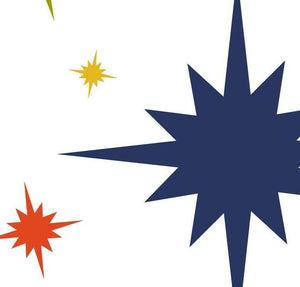 Custom contemporary art print titled Starburst, created by Mid-Century Mod-ify