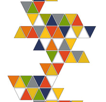 Custom modern art print titled Triangles, created by Mid-Century Mod-ify