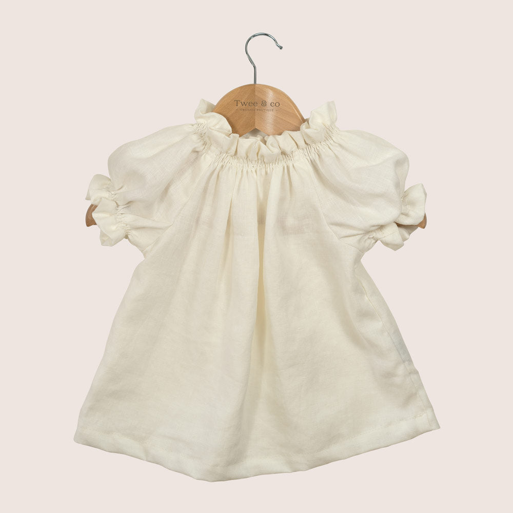 Poppet blouse - linen cream - Made from organic fabrics and hand crafted by Twee & co - Made in New Zealand