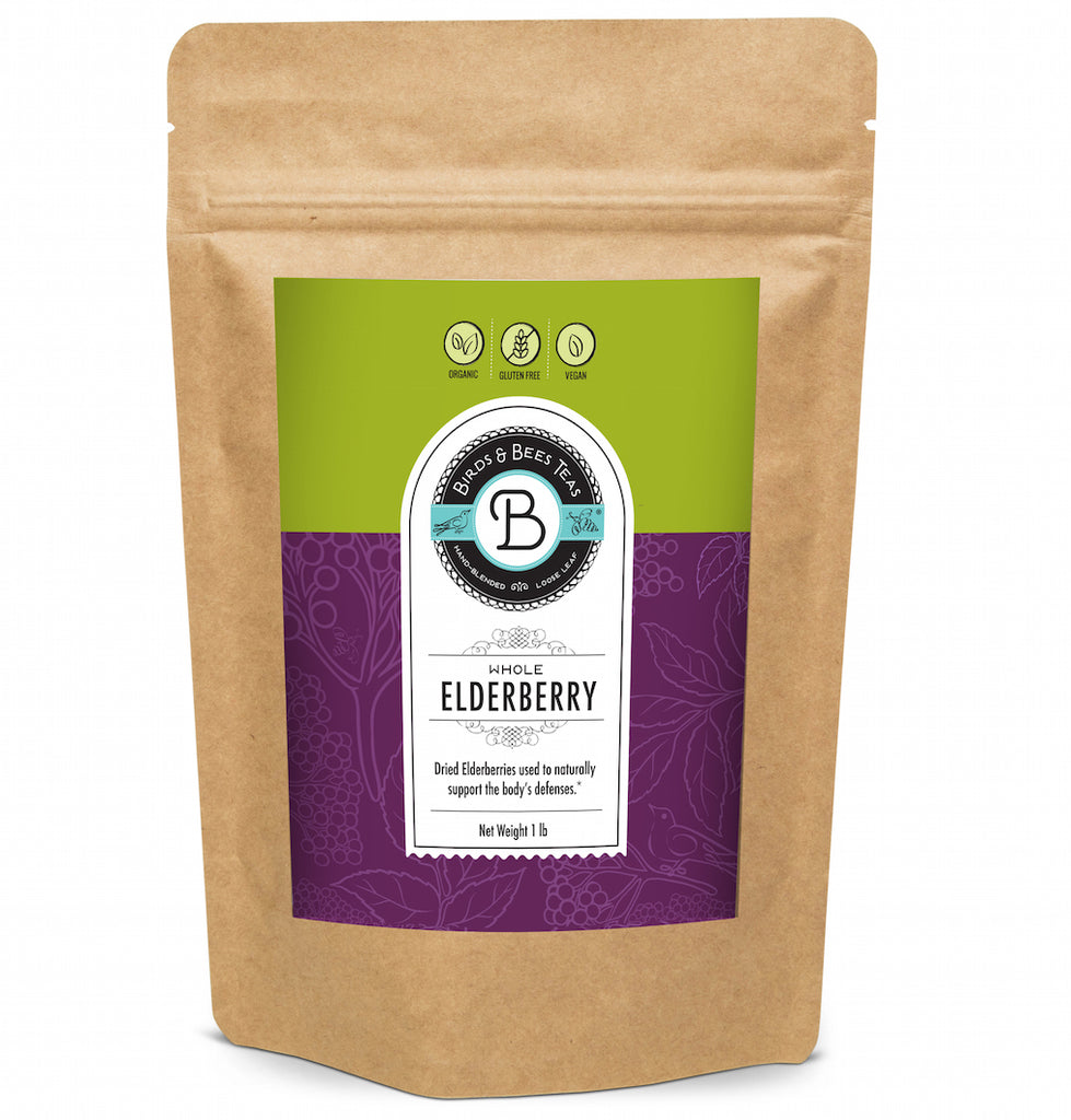 Elderberry Tea Organic - Bulk Elderberry - Whole Dried Organic Elderberries