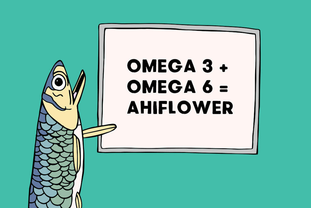 fish professor omega 3 plus omega 6 equals ahiflower