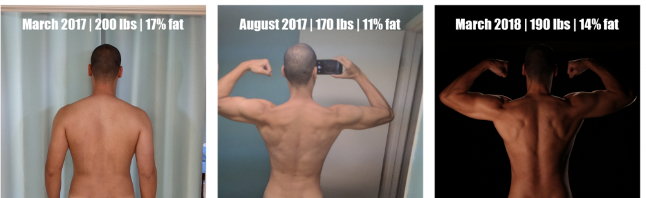 How This Guy Reached His Body Goals With A 12 Month Plenny Shake