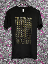 Cree Comic Sans T-Shirt - GOLD on BLACK