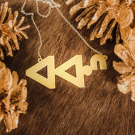 #KickingBrass awas syllabics necklace