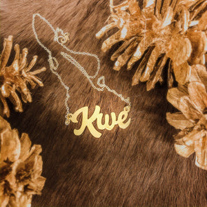 #KickingBrass Kwe necklace