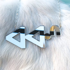 ᐊᐊᐧᐢ awas syllabics necklace