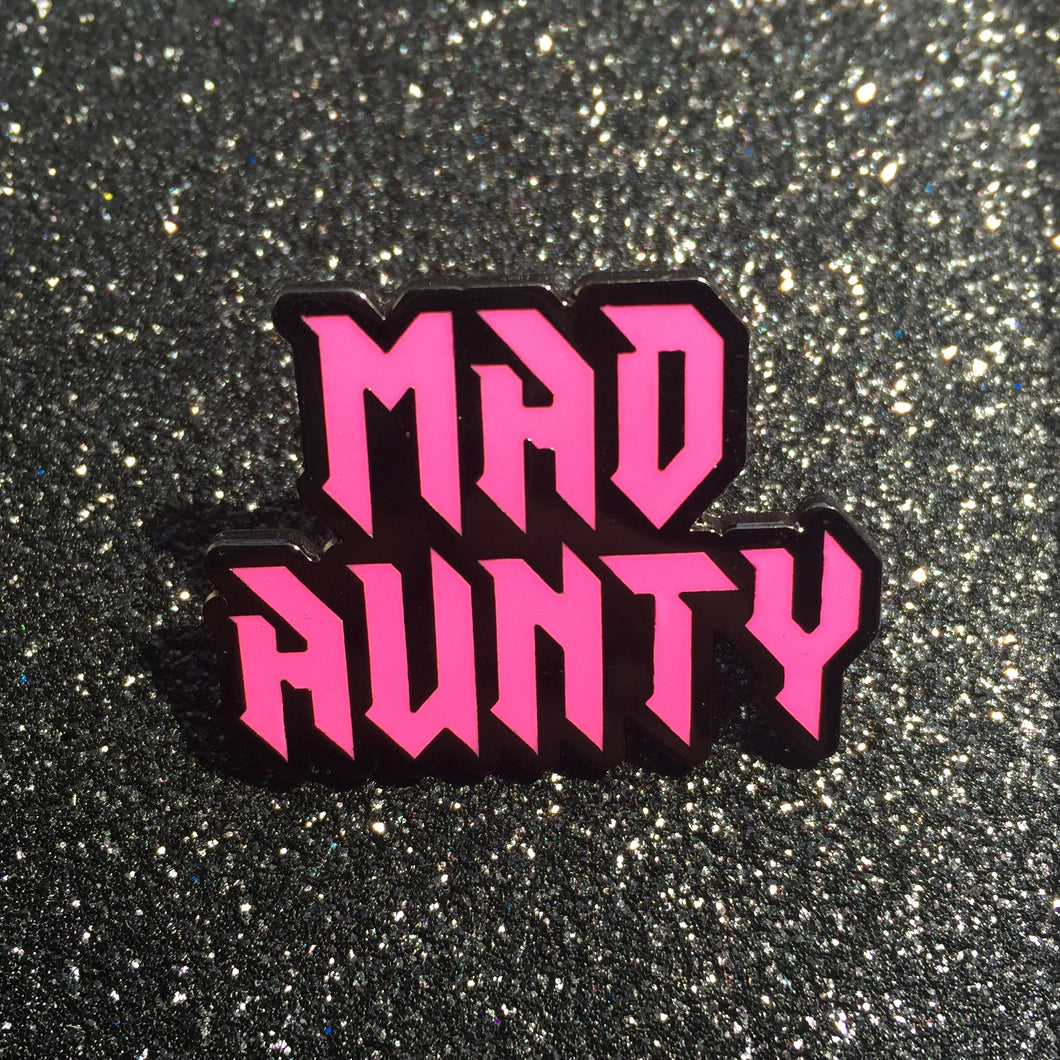 MAD AUNTY lapel pin