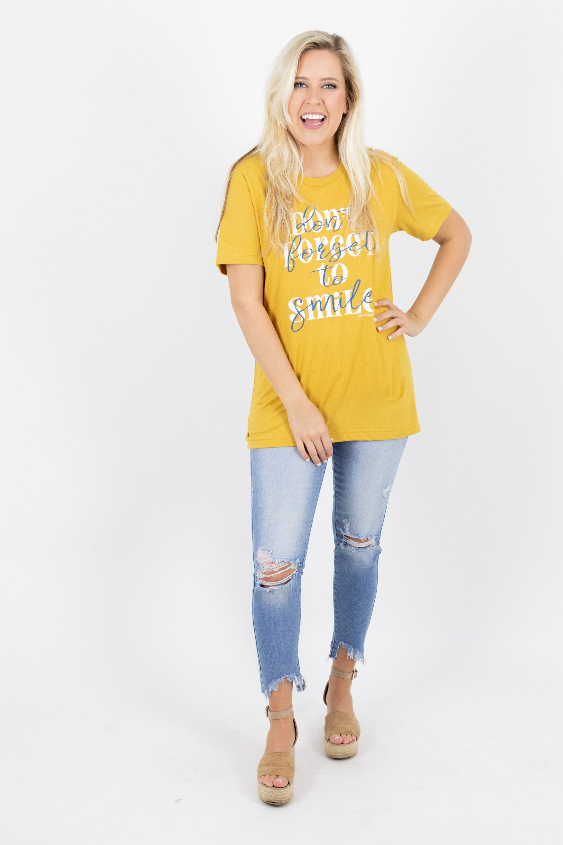 Don't Forget to Smile Graphic Tee