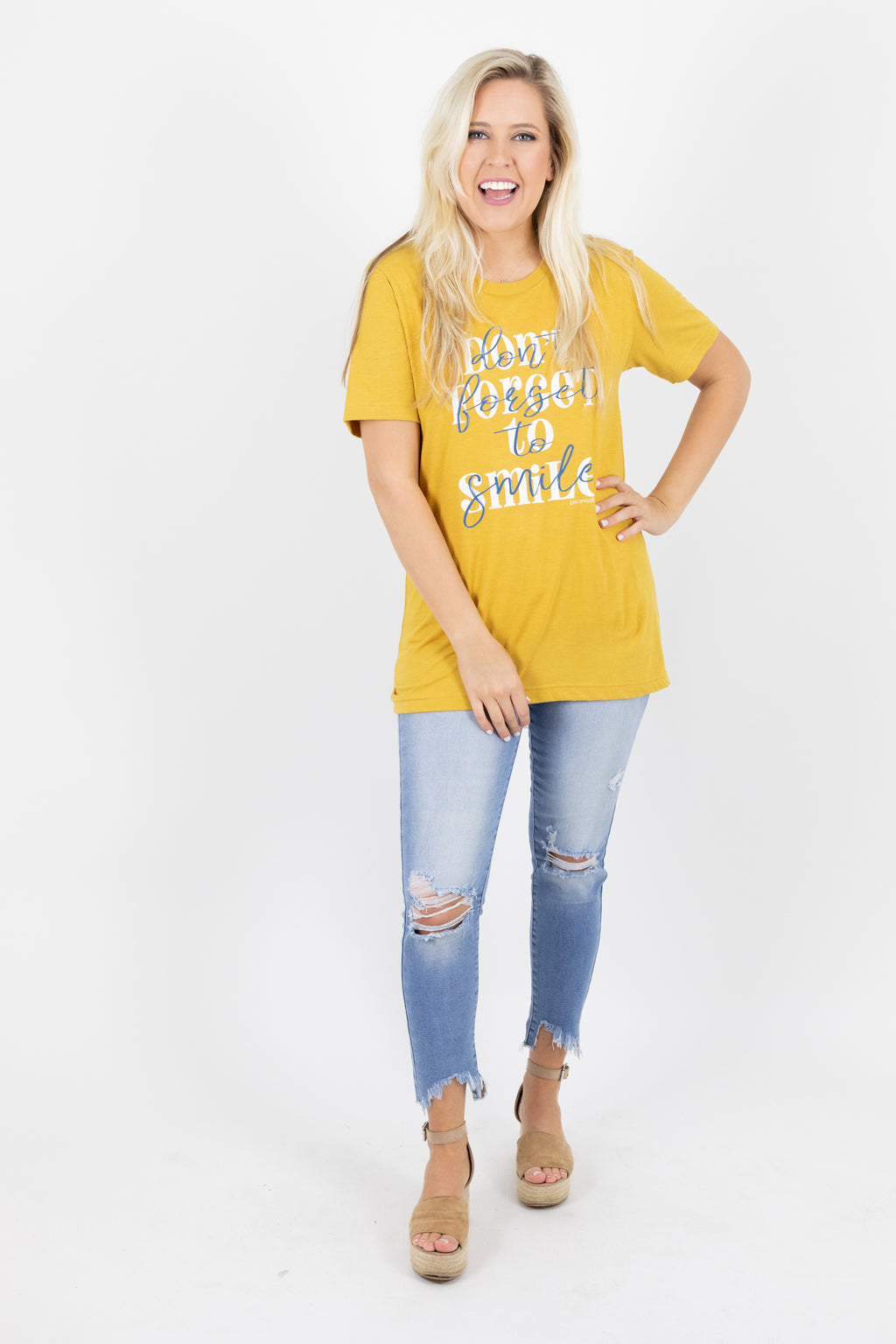 Don't Forget to Smile Hello Graphic Tee