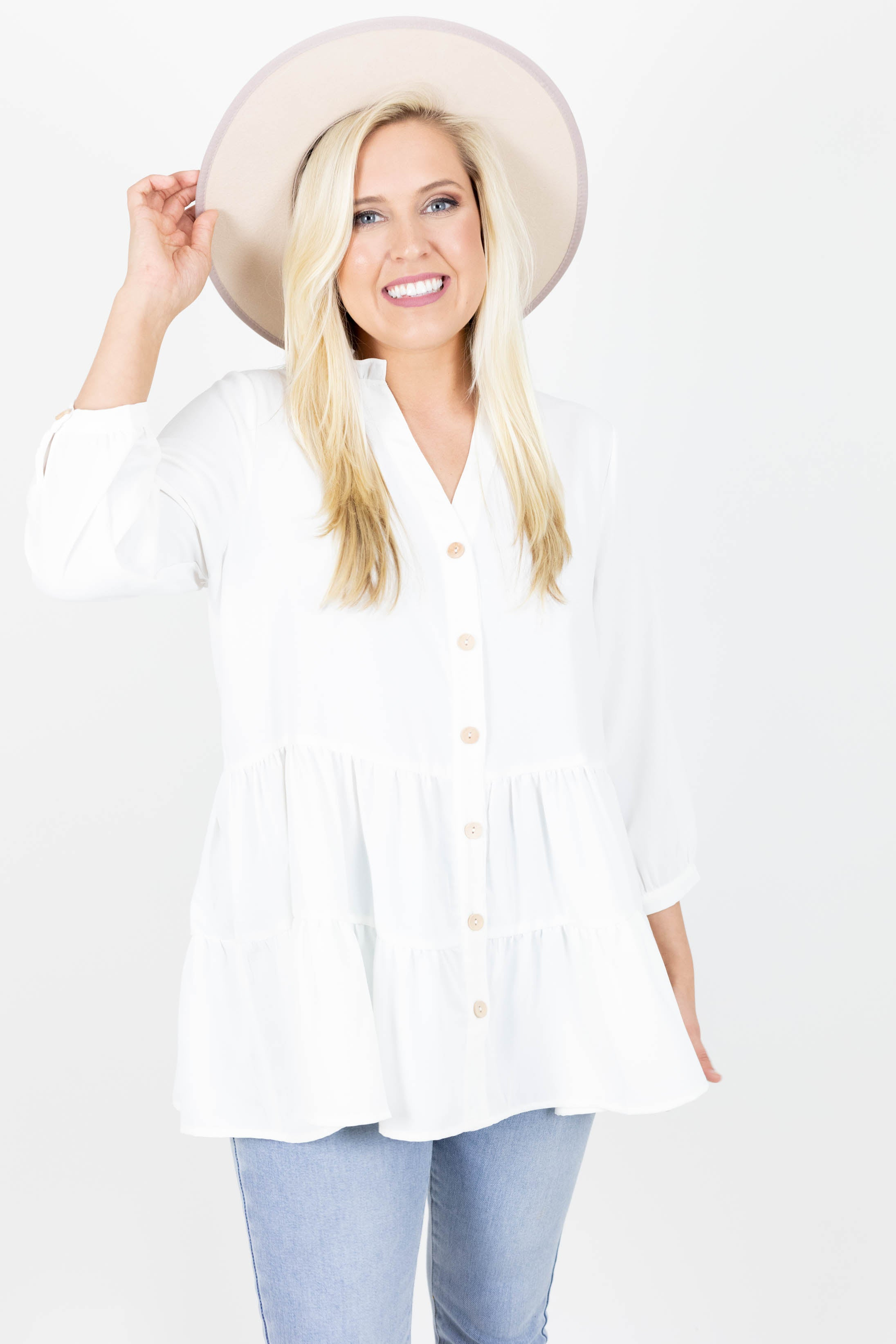 Beautiful in Buttons Tunic