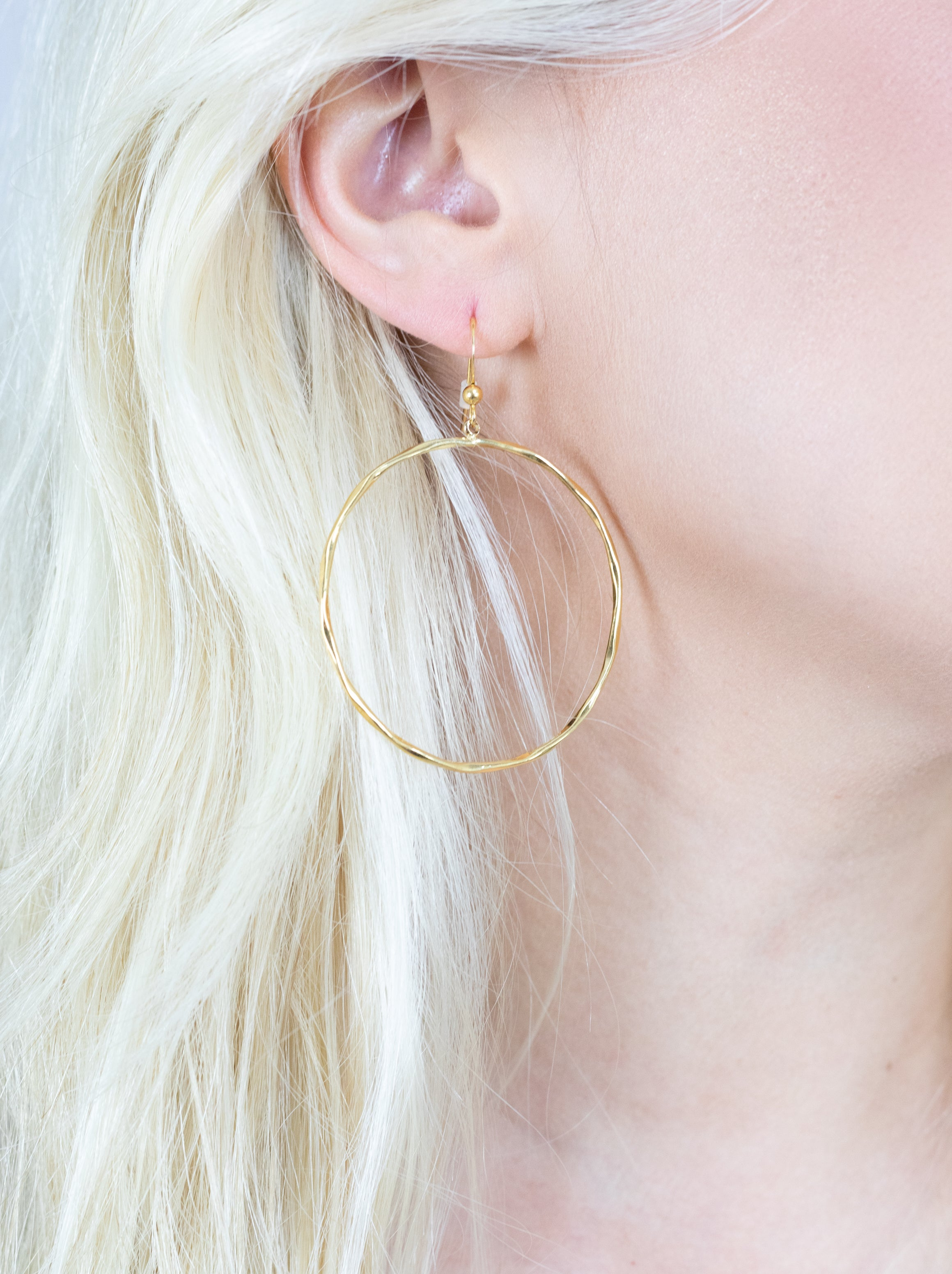 Fancy That Gold Hoop Earrings