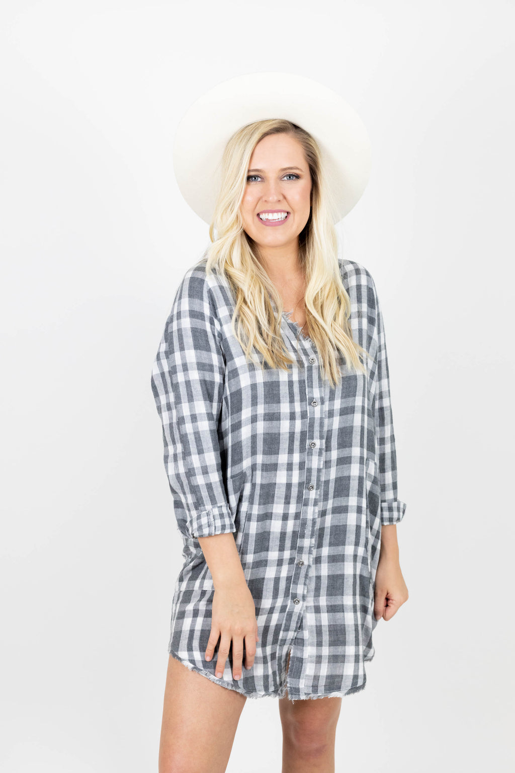 Sunny Day Fray Tunic Dress