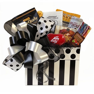 Sweet & salty gifts wrapped up in a fancy box.