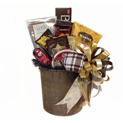 Fall-themed gift basket to show your love.