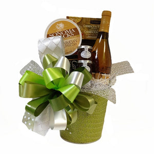 A gift basket filled with sweet & savory delights.