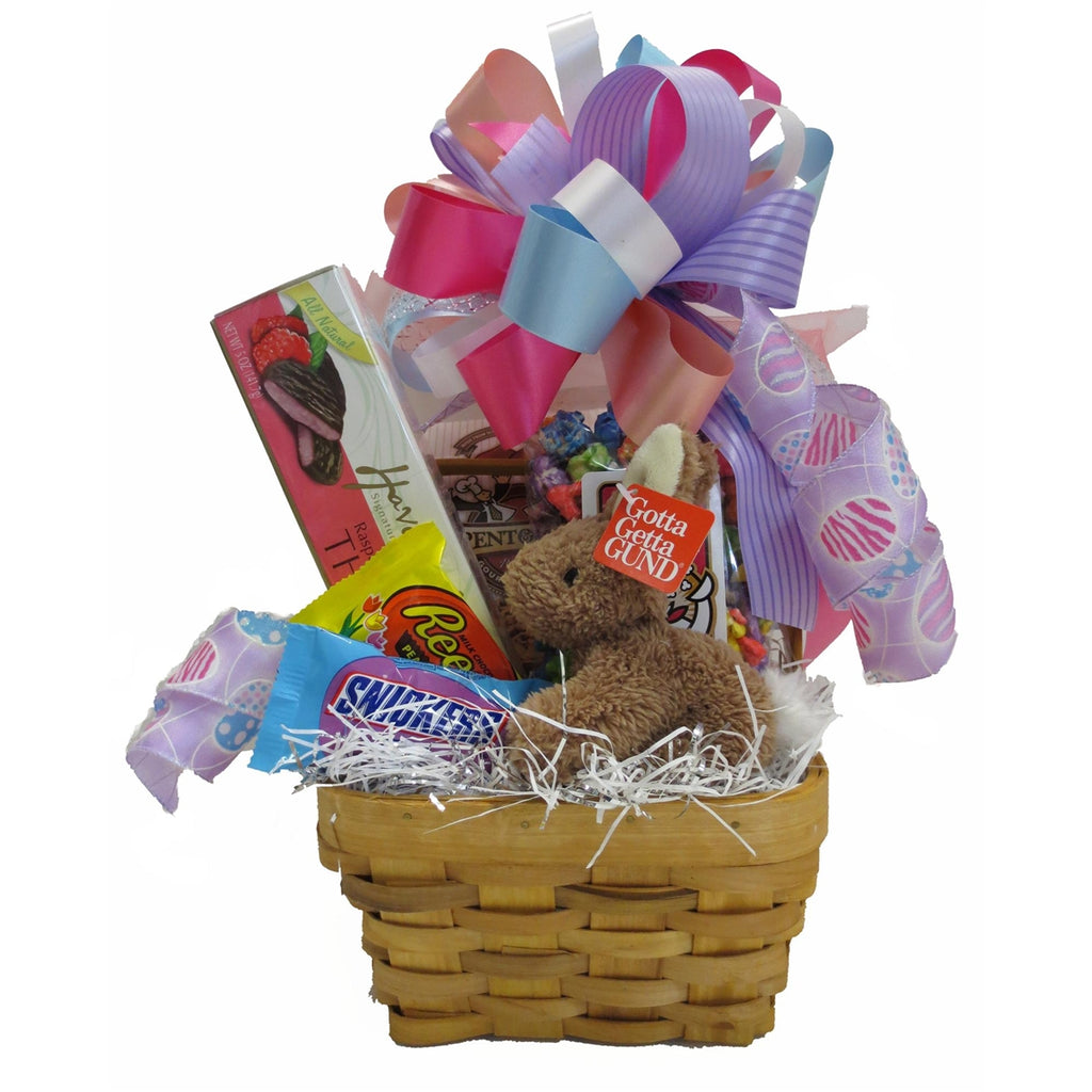 Easter basket filled with bunny, candy, and more!