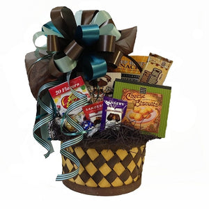 Popular Gingham & Posh basket filled with everyone's favorite treats.