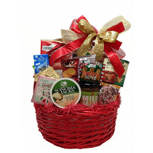 Deluxe Christmas gift basket in different sizes.