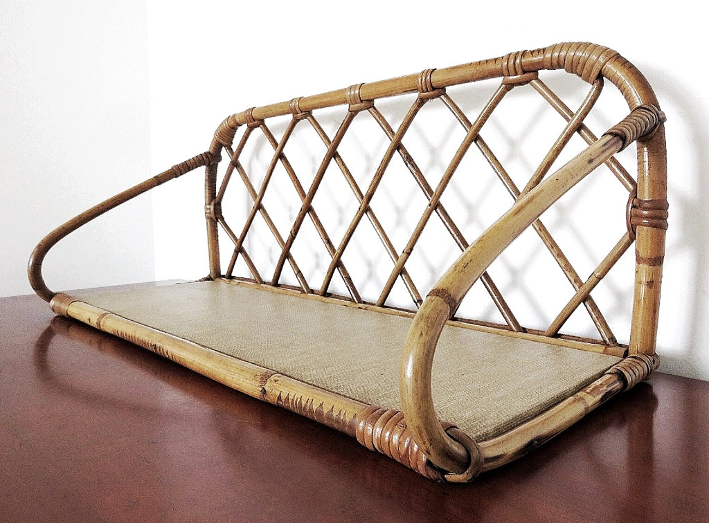 Mid-Century French Rattan Shelf (1950-1960)