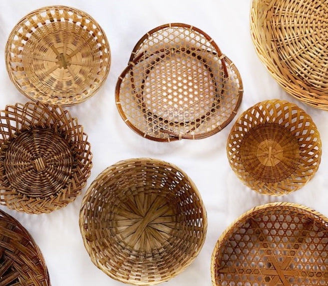 Woven Wall Hanging Baskets (Set of 13)