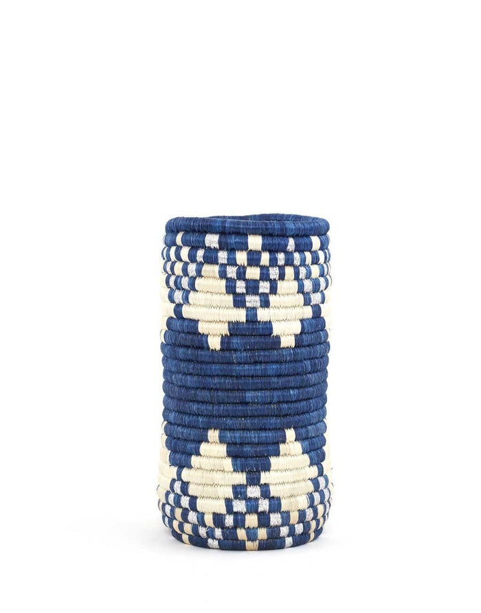Handwoven Vase - Blue