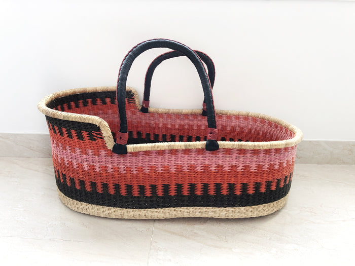'Strawberry Fields' Moses Basket