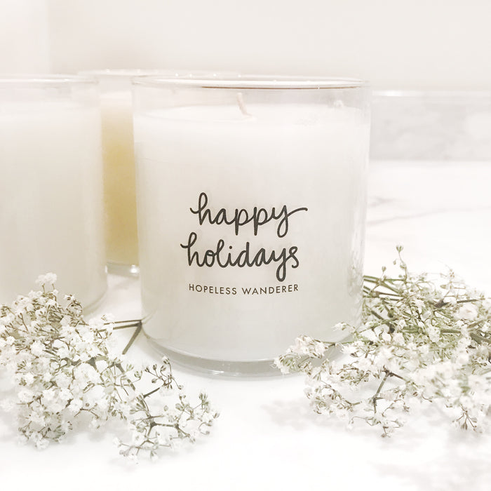 'Happy Holidays', Gingerbread Cookie Candles