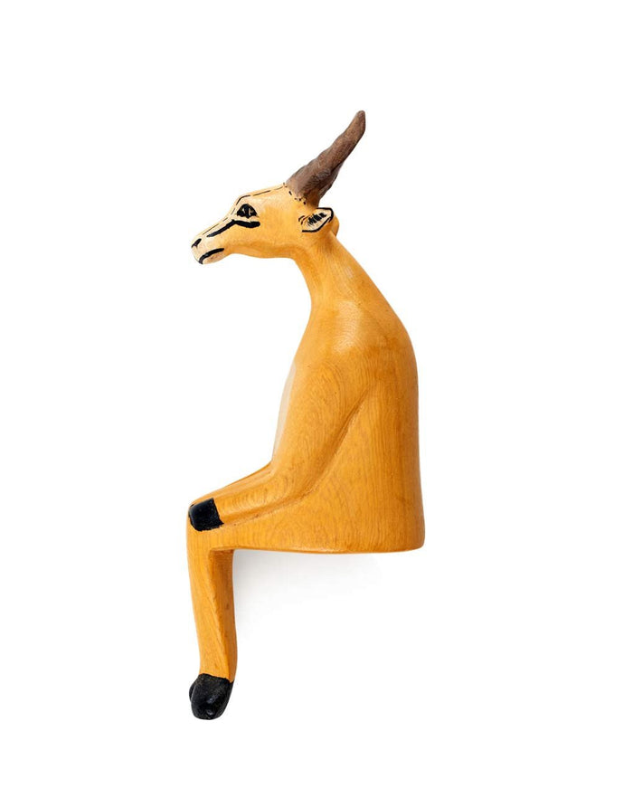 Wooden Shelf Animal - Antelope