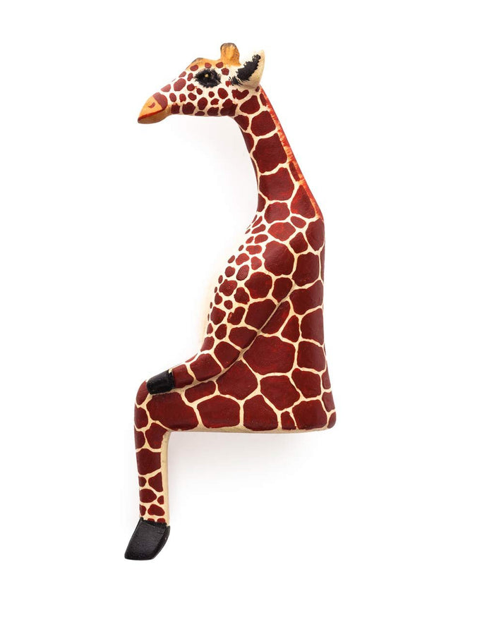 Wooden Shelf Animal - Giraffe
