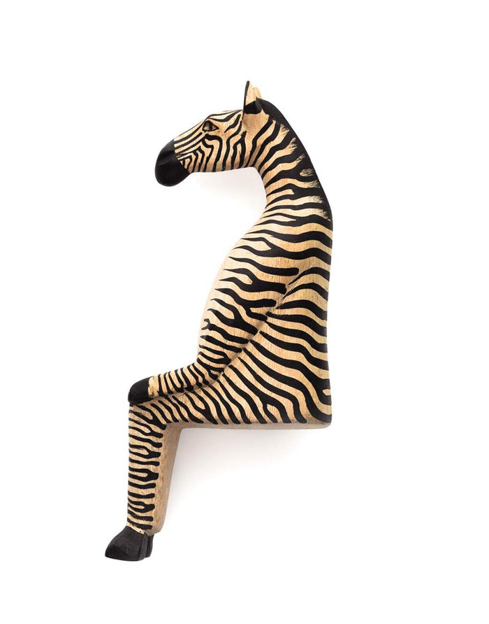 Wooden Shelf Animal - Zebra
