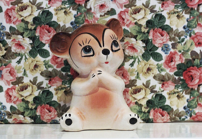 Vintage Bear Money Bank
