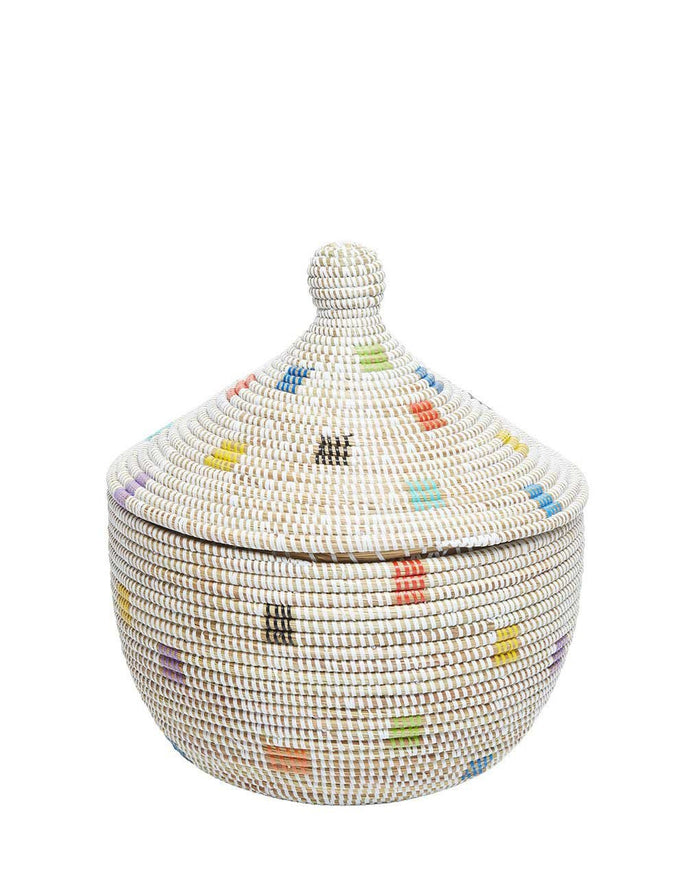 Whimsical Basket - Rainbow Dot