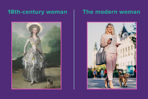 Women over the ages | History of period products