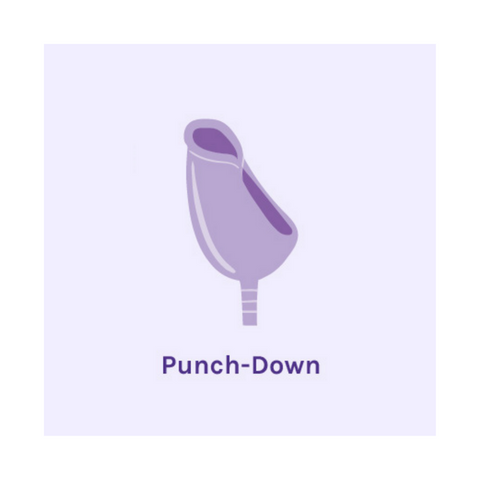 Menstrual Cup Punchdown Fold